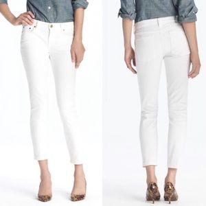 J. Crew Women's 31 Cropped Matchstick Jeans White